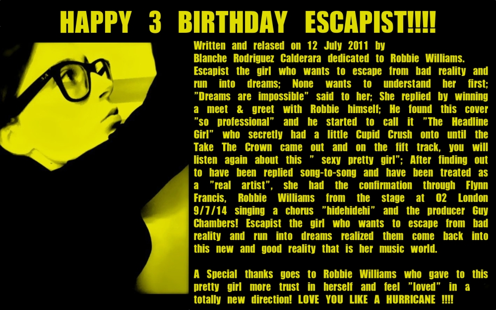 ESCAPIST BIRTHDAY